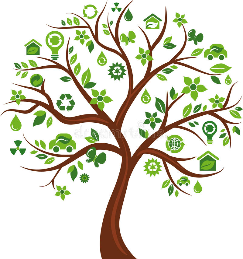 Download Eco Energy Concept Icons Tree - 3 Stock Vector - Illustration of graphic, illustration: 14081354