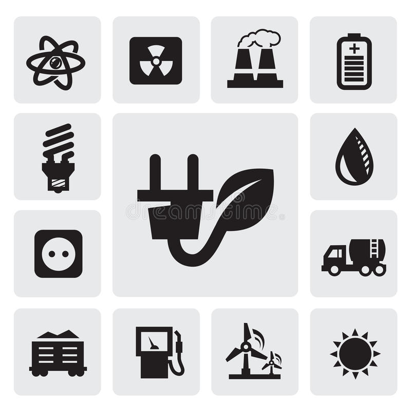 Download Eco energy icons stock vector. Image of label, benzine - 27253955