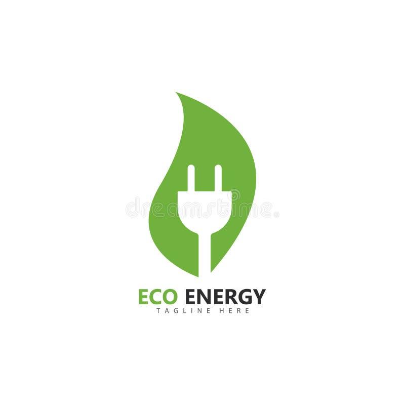 Eco energy logo template vector icon illustration. Design, branding, corporate, smart, unique, solar, fresh, thunder, powerful, lightning, shape, electricity vector illustration