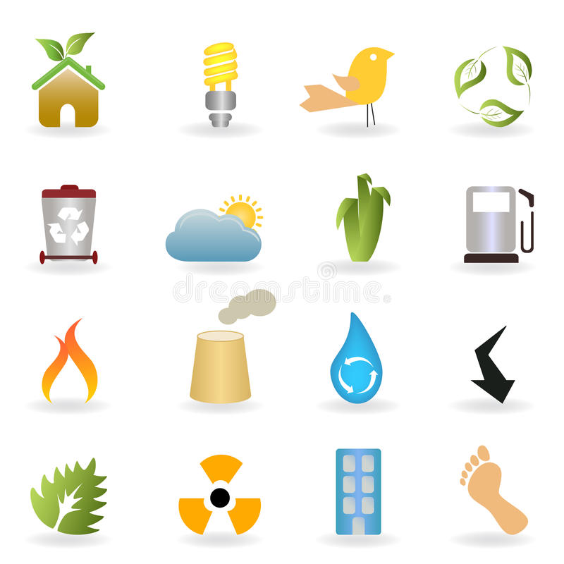 Eco And Environment Buttons Royalty Free Stock Images