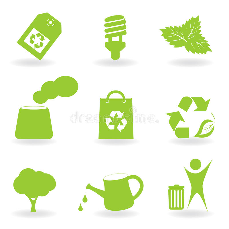 Download Eco And Environment Icon Set Stock Vector - Image: 17965164