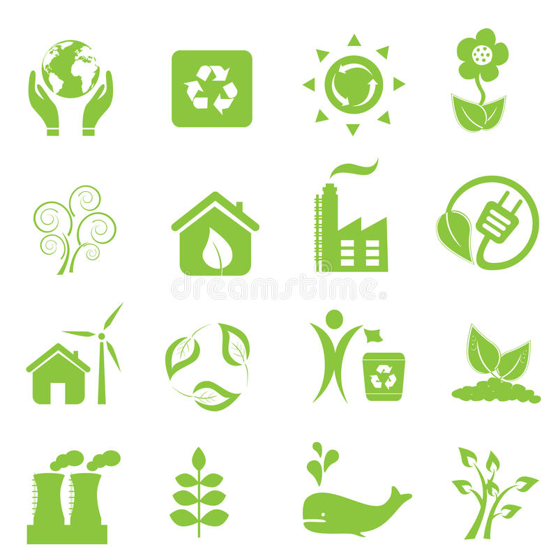 Download Eco and environment icons stock vector. Image of hand - 20557706