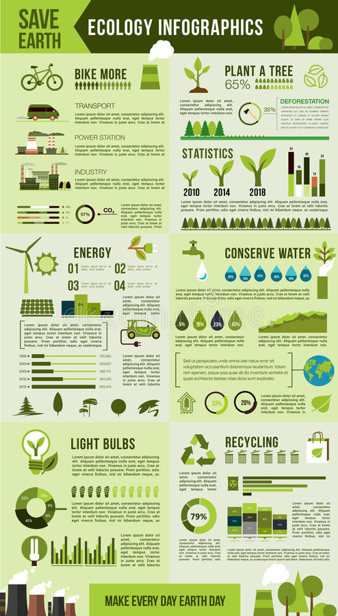 Eco environment protection infographic design vector illustration