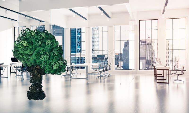 Eco esverdeia o conceito do ambiente apresentado pela árvore como o mecha de trabalho imagem de stock
