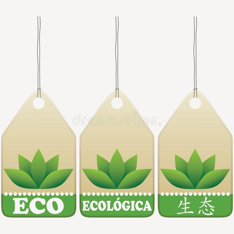 Eco etichetta i segni illustrazione di stock