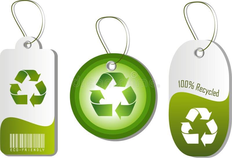 eco etykietki ilustracja wektor