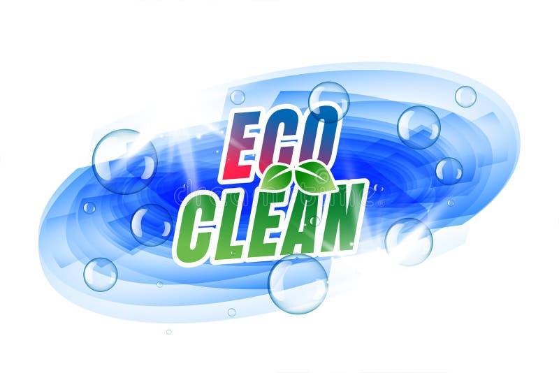 Eco etykietki czysty projekt z bąblami ilustracja wektor