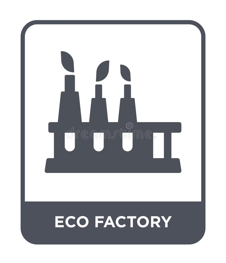 eco factory icon in trendy design style. eco factory icon isolated on white background. eco factory vector icon simple and modern royalty free illustration