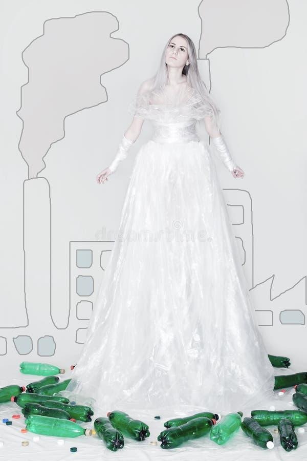Eco fashion / Foil clothes stock photos