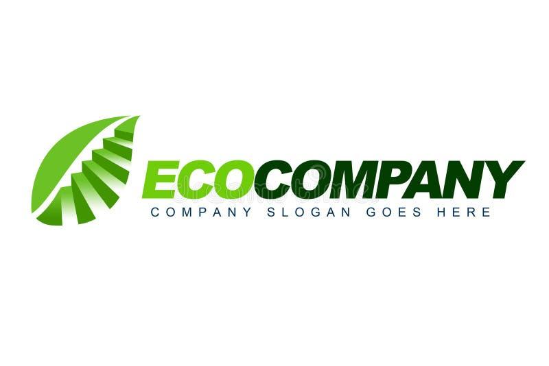 Eco Firmy Logo royalty ilustracja