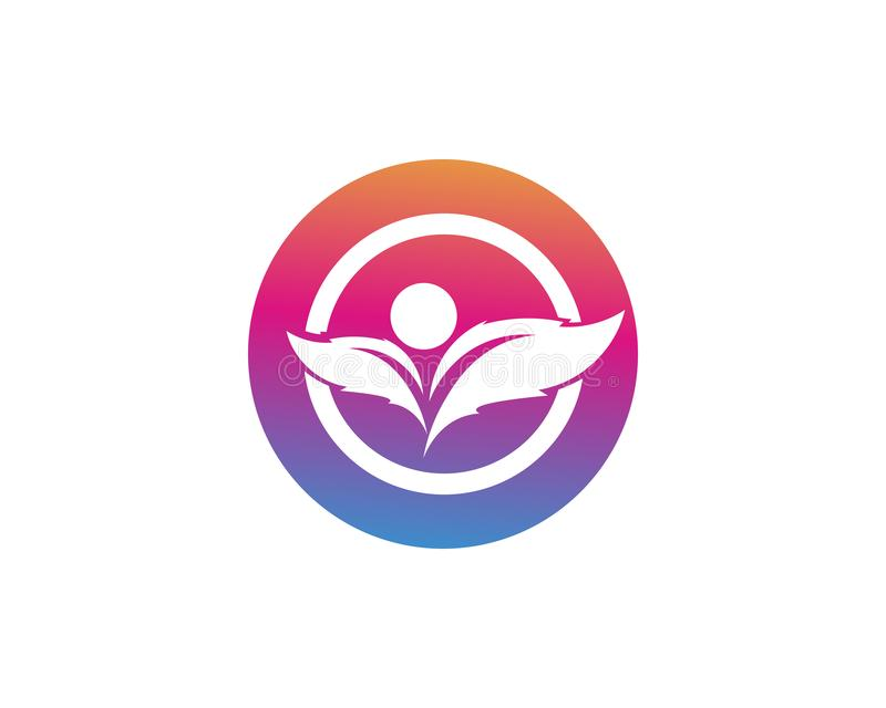 Eco, foglia, atletica, equilibrio, corpo, marca, cura, club, creativo illustrazione di stock
