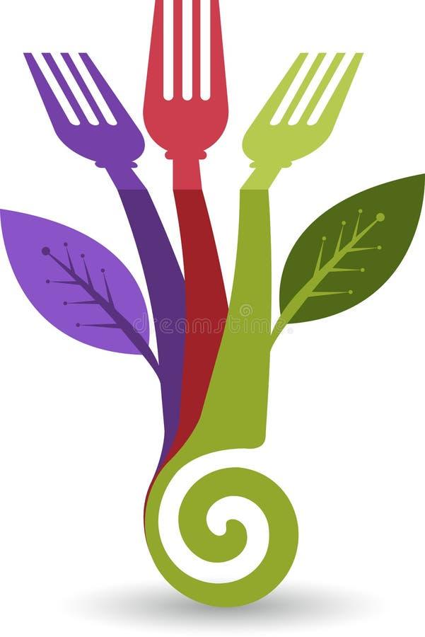 Eco food logo. Illustration art of a Eco food logo with background royalty free illustration