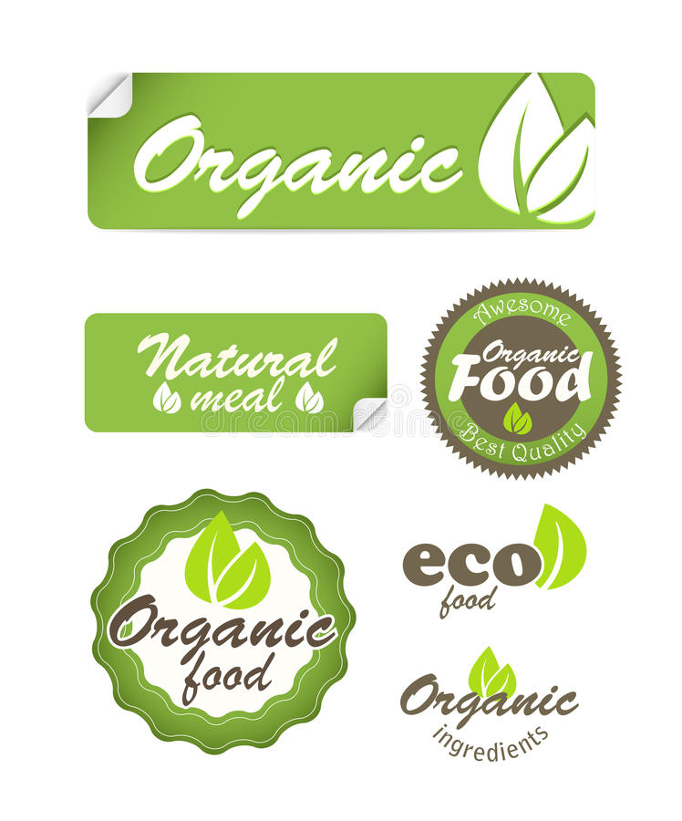 Download Eco Food Stickers Royalty Free Stock Photography - Image: 26394887