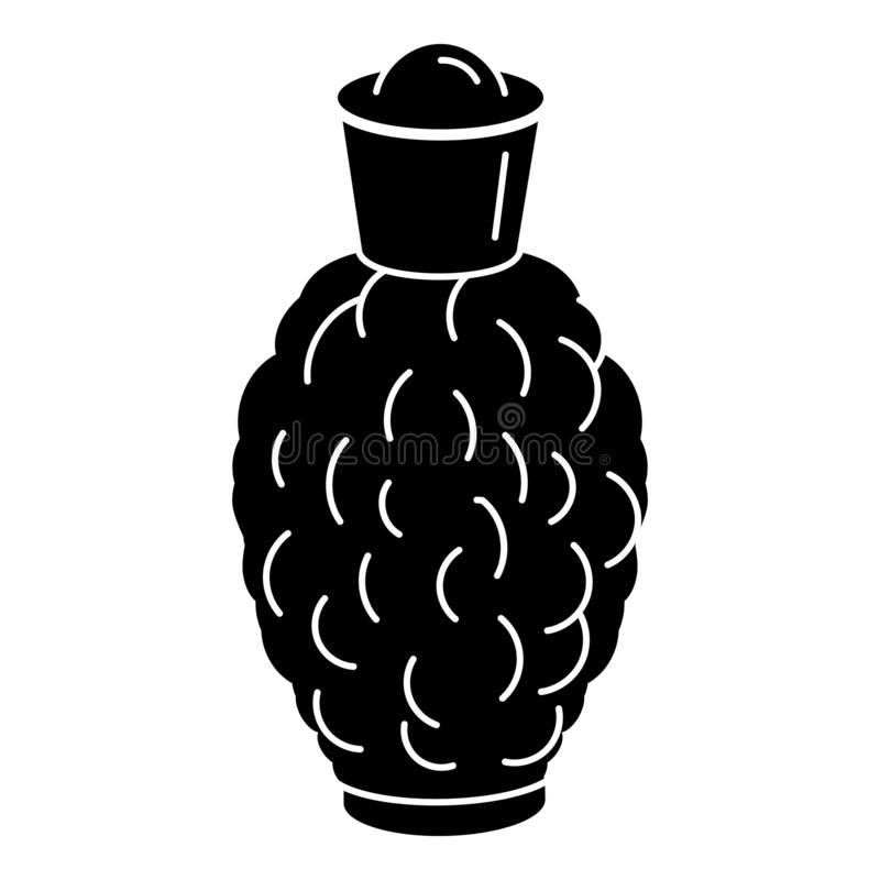Eco fragrance bottle icon, simple style vector illustration