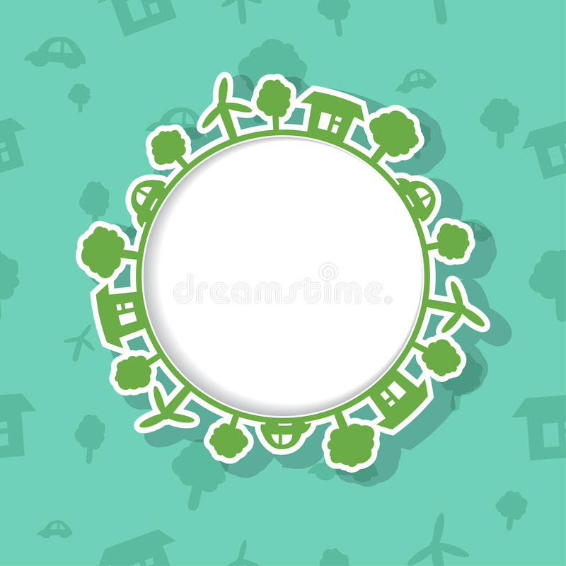 Download Eco Frame On Seamless Background Stock Photo - Image: 30626650