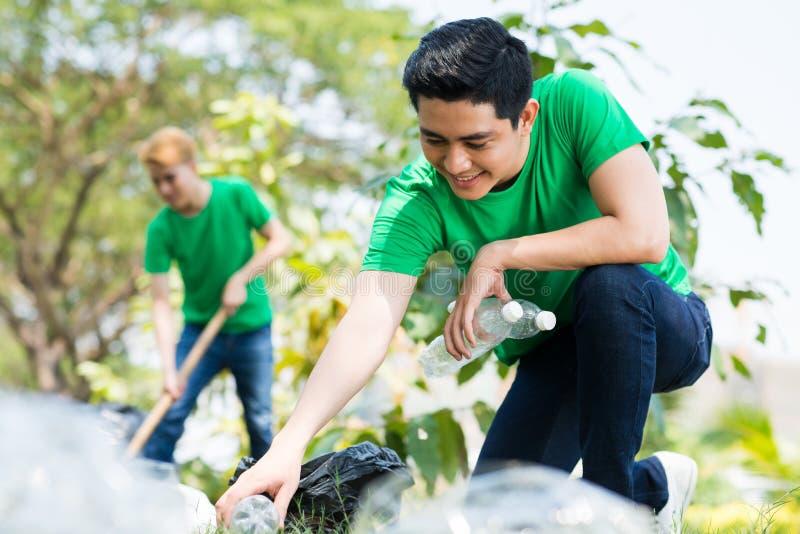 Eco Freiwillig erbieten stockfoto