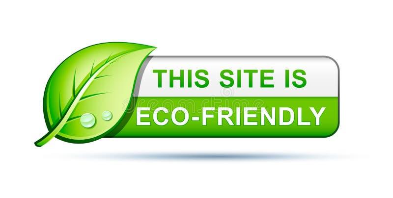 Eco freundliche siteikone lizenzfreie abbildung