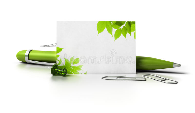 Eco freundliche unbelegte Visitenkarte stock abbildung