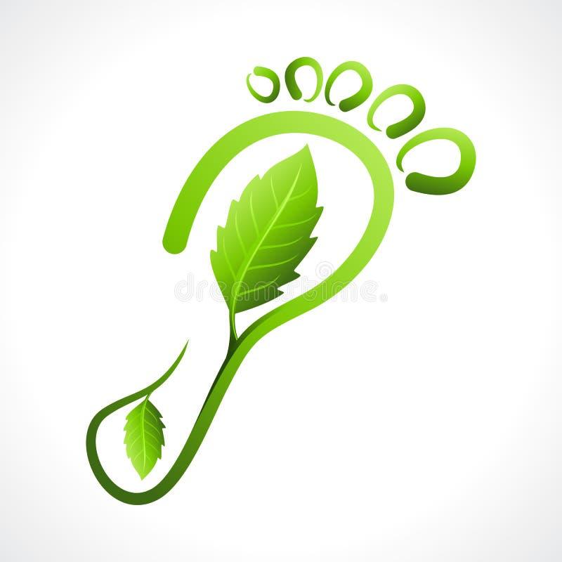 Eco freundlicher Abdruck lizenzfreie abbildung