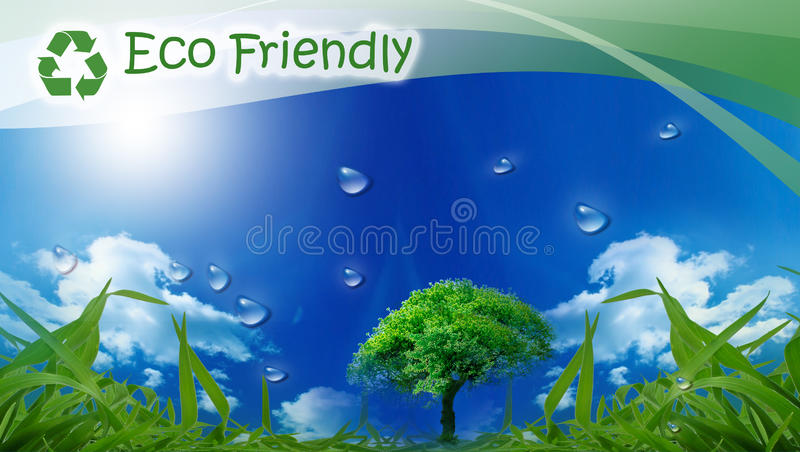 Eco Friendly. Eco background for your design royalty free illustration