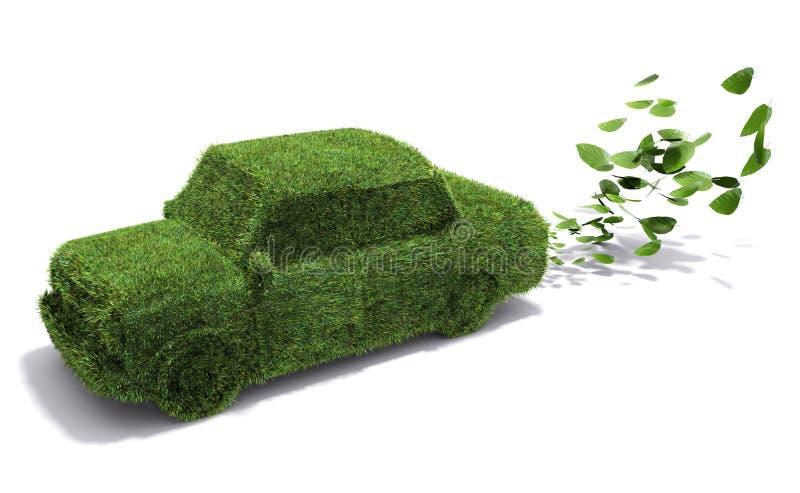 Eco-friendly car royalty free illustration