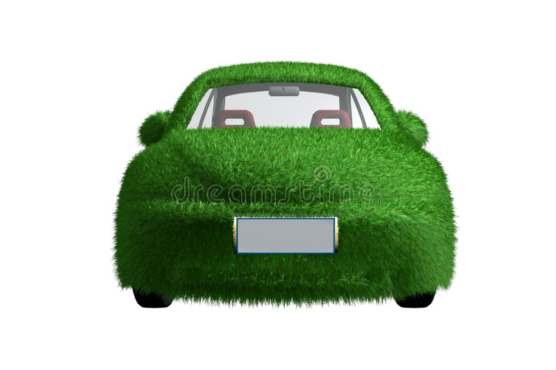 Eco-friendly car front view royalty free stock photo