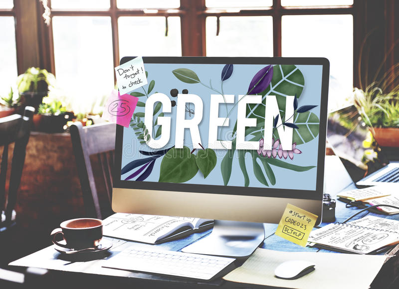 Eco Friendly Earth Day Green Environment Concept stock photography