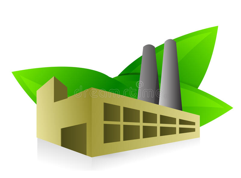 Eco friendly factory illustration design royalty free illustration