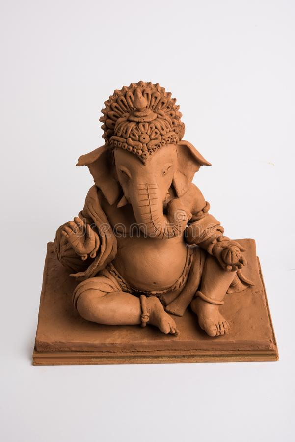 Eco friendly Ganesh/Ganpati idol or murti, home made. selective focus royalty free stock photography