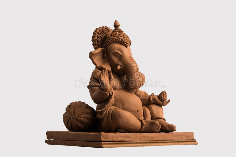 Eco friendly Ganesh/Ganpati idol or murti, home made. selective focus stock photos