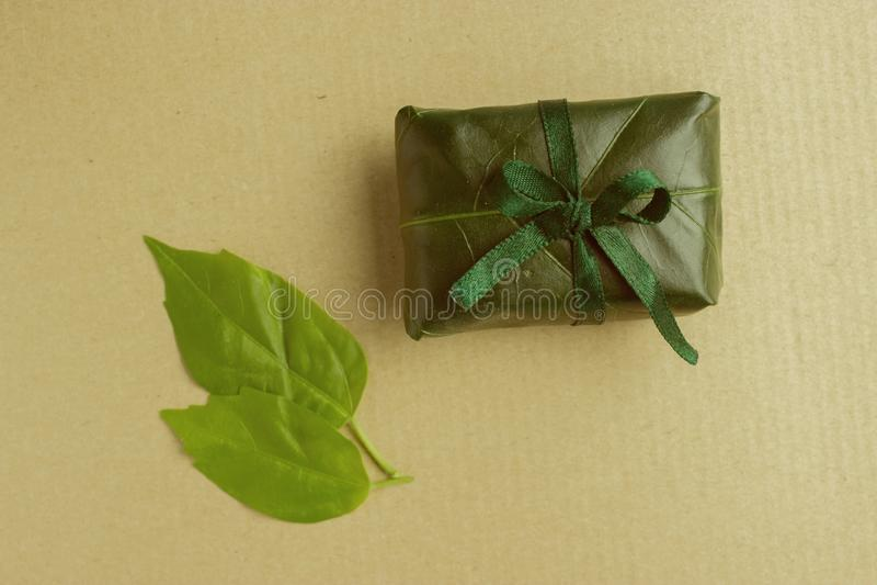 Eco friendly gift royalty free stock photo