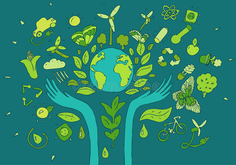 Download Eco Friendly, Green Energy Concept, Flat Vector Stock Image - Image of ecological, recycle: 54884997