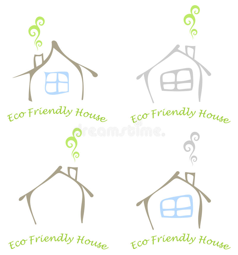 Eco friendly house royalty free illustration