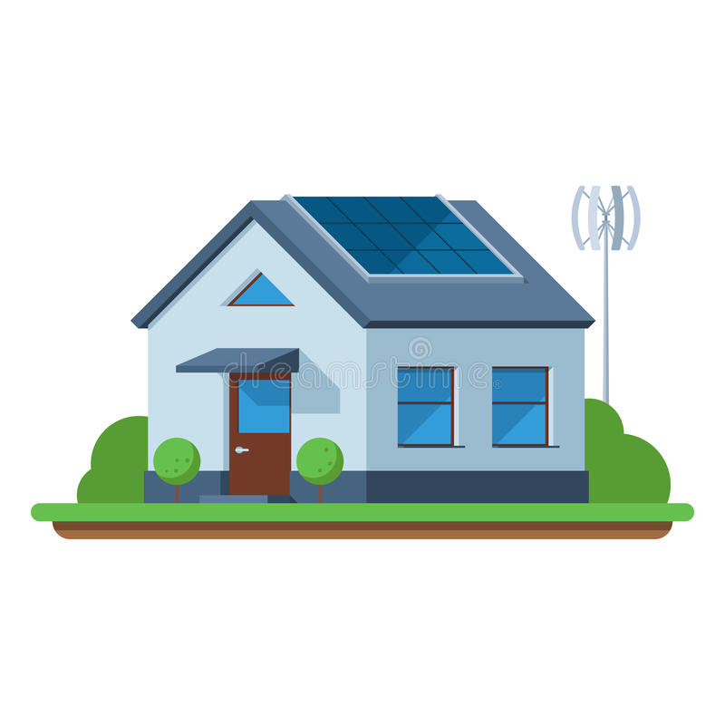 Eco friendly house vector illustration