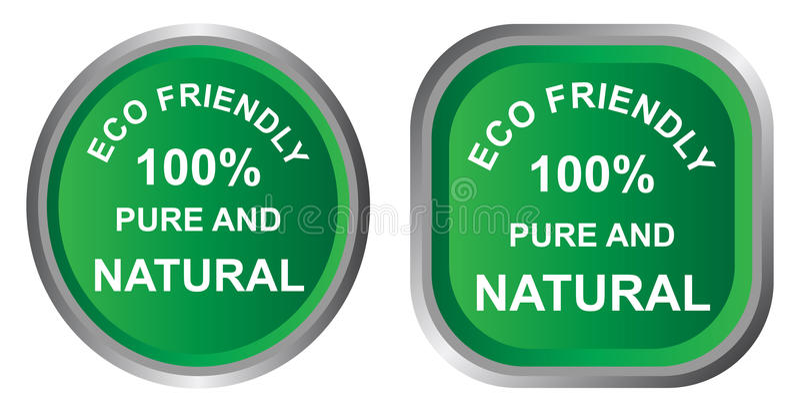 Eco friendly icon royalty free illustration