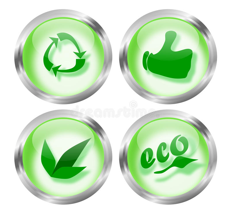 Eco Friendly Icon Buttons