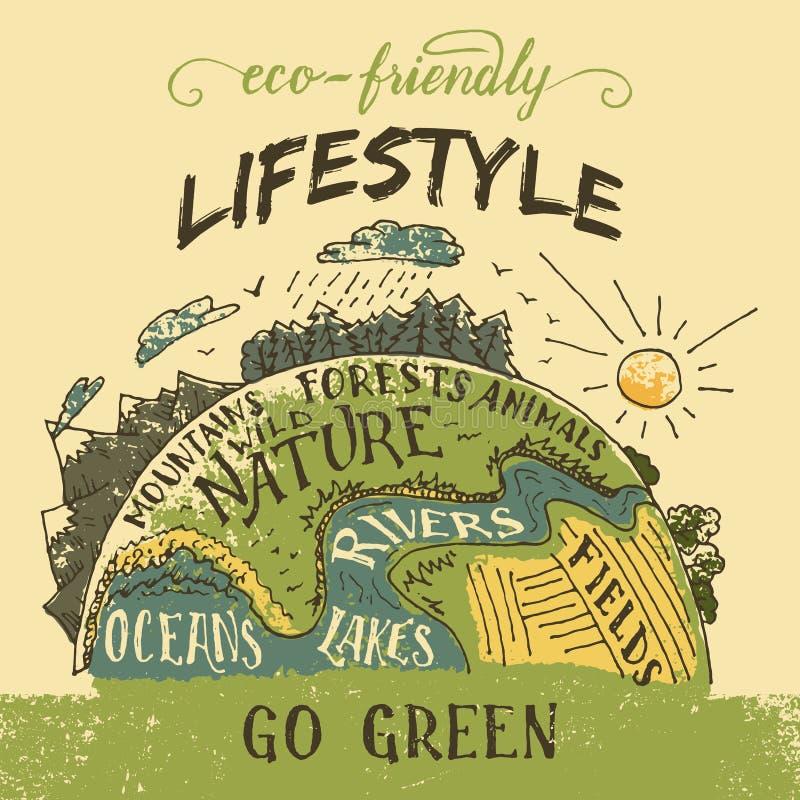 Eco friendly lifestyle concept illustration vector illustration