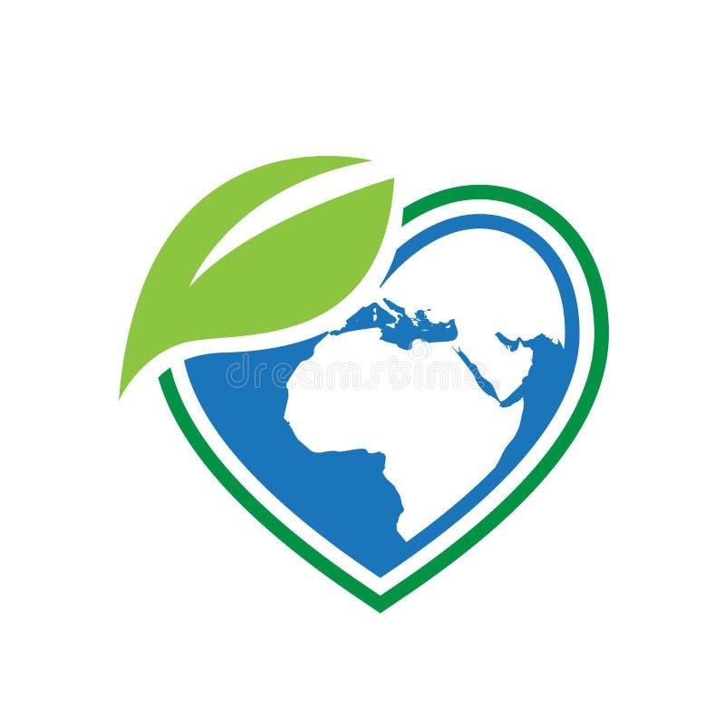 eco friendly renewable bio energy logo design vector illustration stock illustration