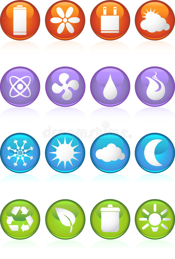 Download Eco Friendly Round Web Buttons Stock Vector - Image: 9395348
