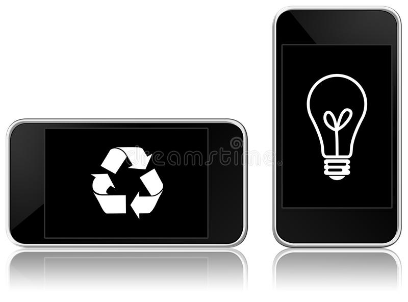 Download Eco-friendly smart phone stock illustration. Image of electronic - 14494188