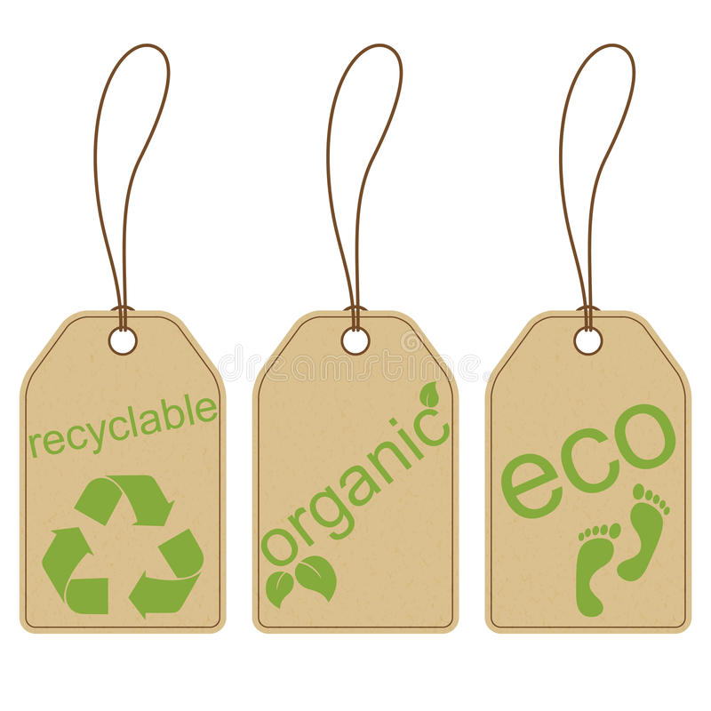 Eco friendly tags vector illustration