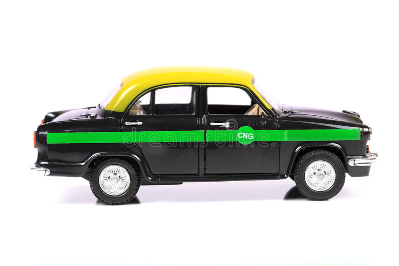 Eco friendly taxi royalty free stock photography
