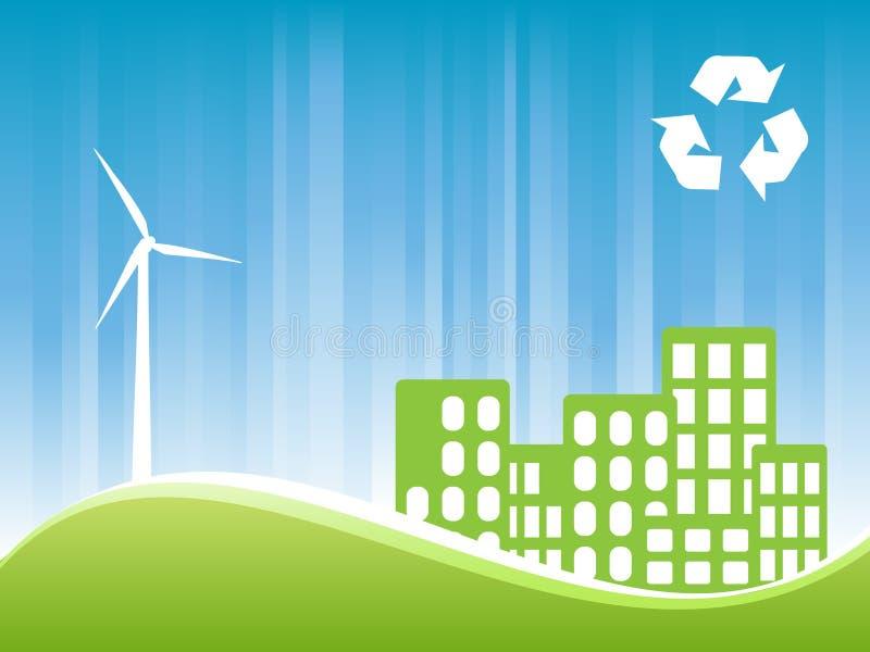 Eco Friendly Town Stock Photo