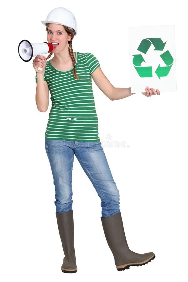 Download Eco-friendly tradeswoman stock photo. Image of environmental - 27808378