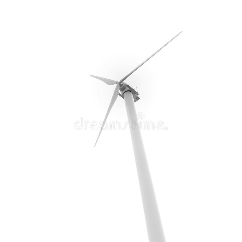 Download Eco-friendly Wind Turbine Isolated On White Royalty Free Stock Images - Image: 17904079
