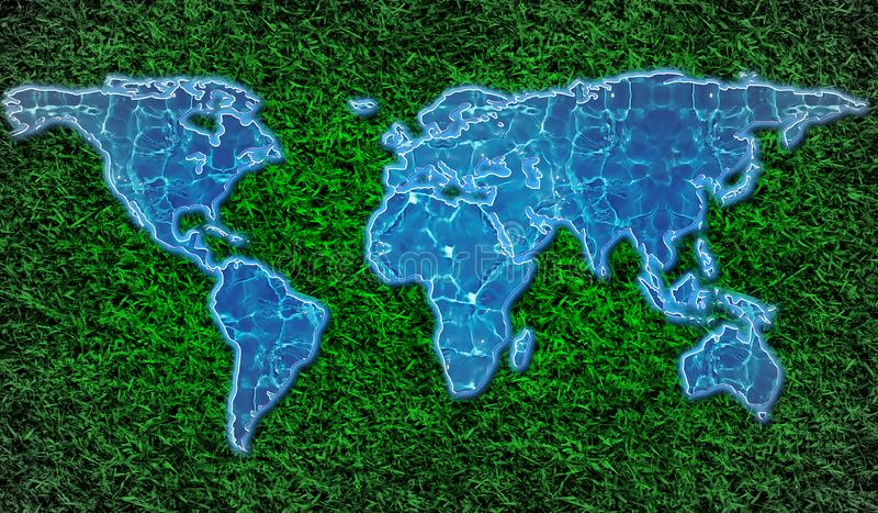 eco-friendly world map stock photo