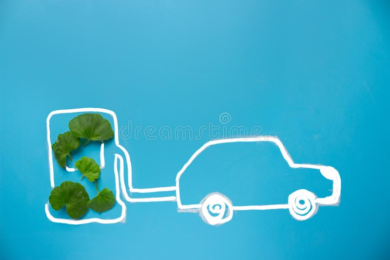 Eco fuel concept royalty free stock photos