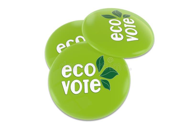 Eco głosowania odznaka ilustracja wektor