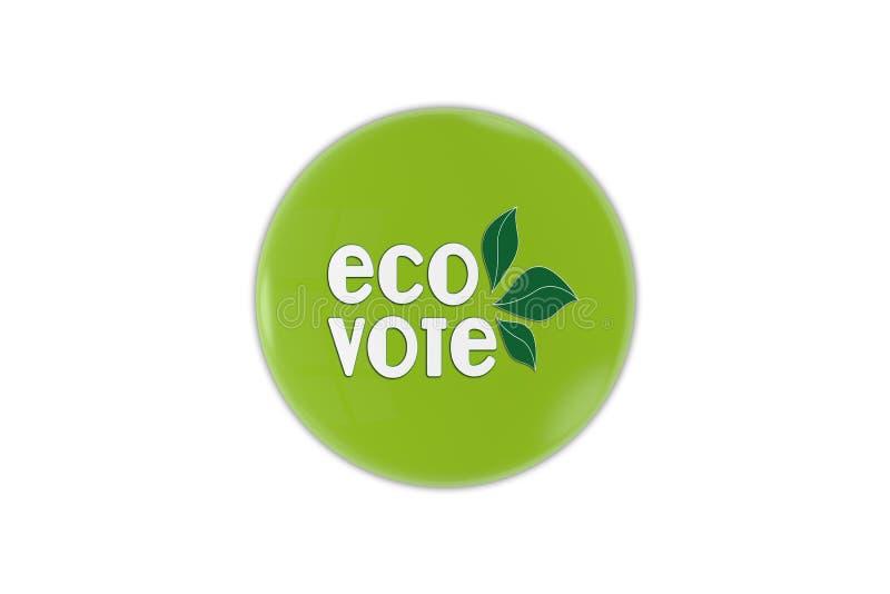 Eco głosowania odznaka ilustracji