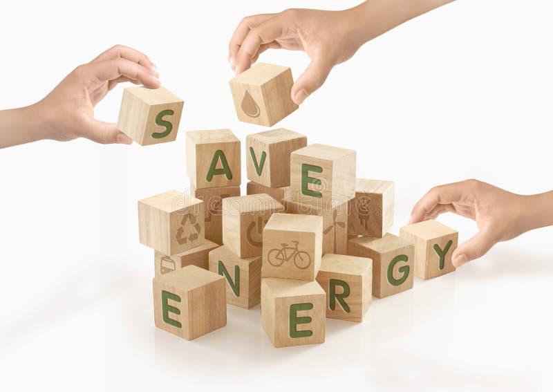 Eco & gaat Groen concept op geïsoleerd royalty-vrije stock afbeeldingen